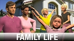 Family Life Character Art Library